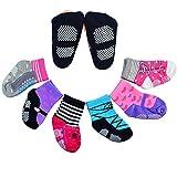 6 Pairs Anti-slip Cotton Baby Socks 12-24 Months Baby Girl Toddler Socks, Nydotd Assorted Non-Skid Anti Slip Stretch Knit Grips Cotton Shoe Socks Slippers (Multicolor)