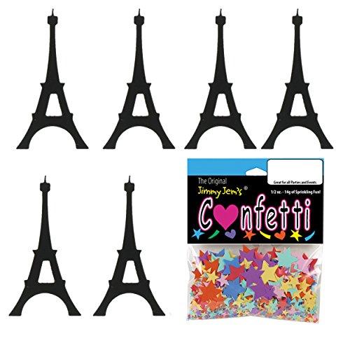 Confetti Eiffel Tower Black - 2 Half Oz Pouches (1 oz) - (CCP9278-01A)