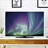 Leighhome Cover for Wall Mount tv Exquisite Atmosphere Solar Starry Skying Night Green Dark Blue Violet Cover Mount tv W20 x H40 INCH/TV 40''-43''