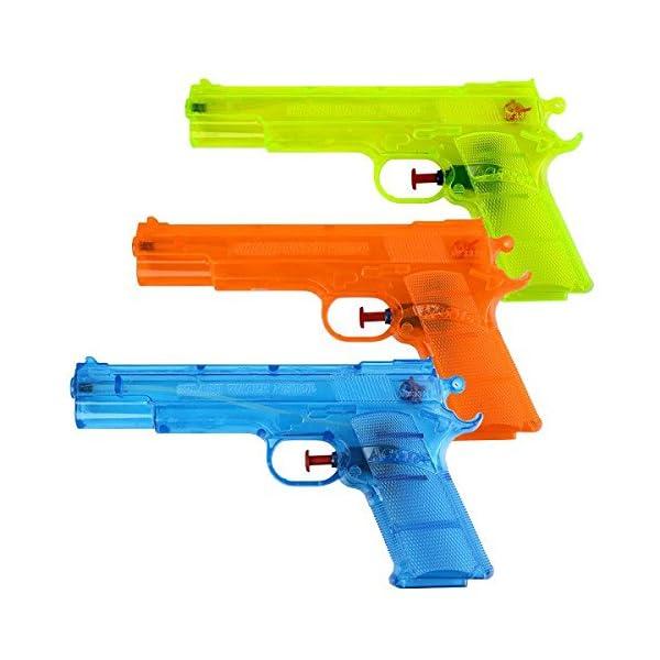 Schramm® 3 Pezzi Pistole ad Acqua Classiche Pistole ad Acqua da ca. 20,6 cm Pistola ad Acqua 1 spesavip