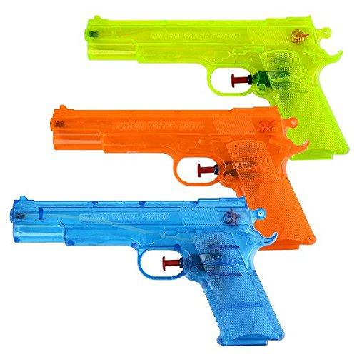 S/O® 6er Pack Wasserpistole Klassiker ca. 20,6cm Wasserpistolen Wasser Pistole Water Gun Watergun Wassergewehr Wassergewehre