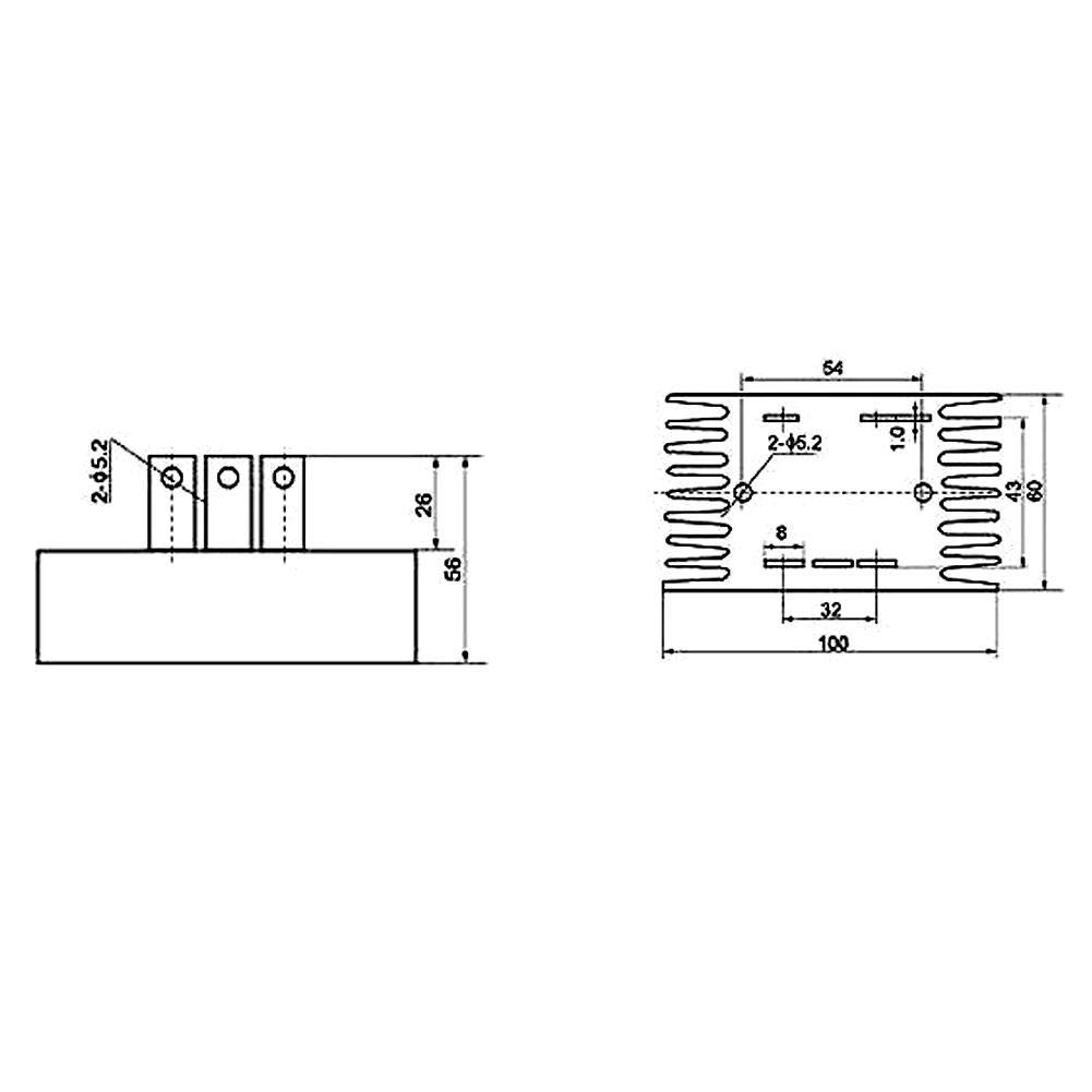 100A 1200V Diode Bridge Rectifier 3 Phase Alternator Diode Bridge Rectifier Module SQL100A