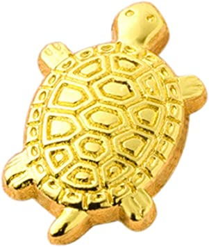 7 CM Chinese Pure red Copper auspicious Fengshui Animal tortoise turtle Statue