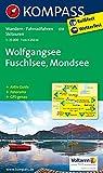 Wolfgangsee - Fuschlsee - Mondsee: Wanderkarte mit Aktiv Guide, Panorama, Radwegen und alpinen Skirouten. GPS-genau. 1:25000 (KOMPASS-Wanderkarten, Band 18)