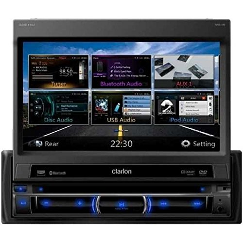 Clarion NZ502E single din 7 inch High Resolution Navigation Station with Built-In Parrot Bluetooth