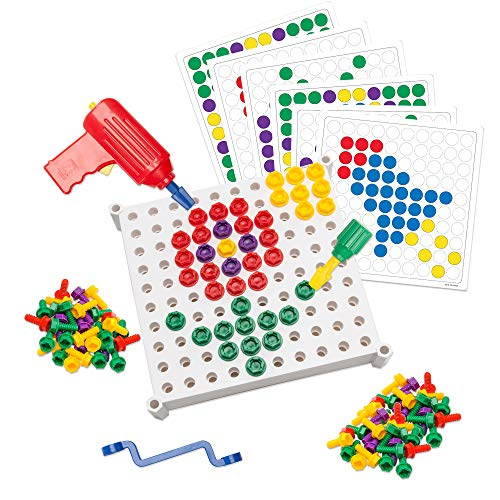Educational Insights Design & Drill Activity Center: 146Piece—Build & Learn, Fine Motor Skills & STEM Learning ()