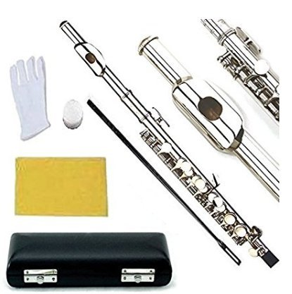 Glory Key of C Piccolo with Pro Case, Joint Grease, Cleaning Cloth and Rod, and Gloves, Nickel Silver Color ~ More COLORS Available ! CLICK on LISTING to SEE All Colors
