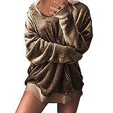 SMALLE ◕‿◕ Clearance,Jacket for Women, Hooded Soft Velvet Jumper Pullover Hoodie Sweatshirt Oversize Coat Jacket
