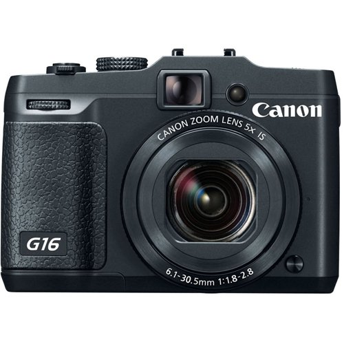 Canon PowerShot G16 12.1 MP CMOS Digital Camera with 5x Optical Zoom and 1080p Full-HD Video Wi-Fi Enabled(Renewed) (Canon G15 Camera)
