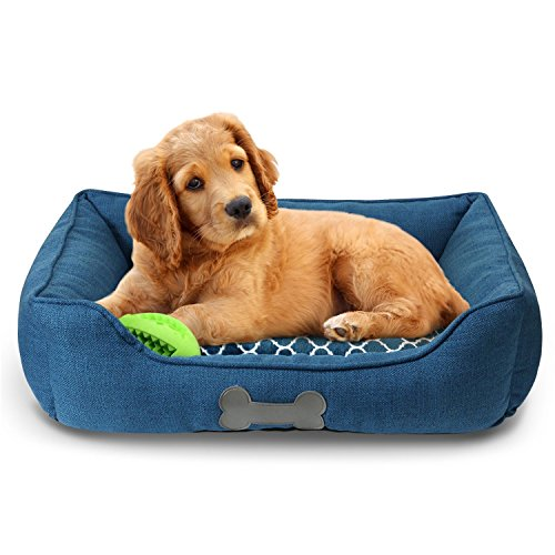 Fluffy Paws Pet Bed Crate Pad Premium Bedding w Inner Cushion for Dog Cat Happy Camper Classic Luxury Plush Series
