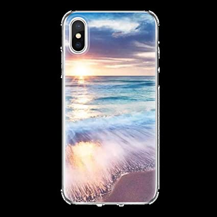 Amazon.com: Scenery TPU Phone Case for iPhone X 10 6 6S 7 8 ...