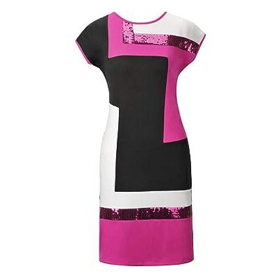 AUDBURN Vestidos Mujer Elegante 2517 Vestido VeranoCasuales Moda Comoda: Ropa y accesorios