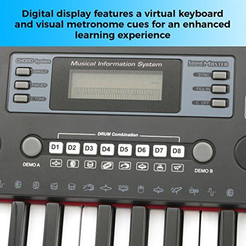 Plixio 61 Key Electronic Keyboard Piano with LED Display, Stereo & USB Input- Portable Music Keyboard - Image 4