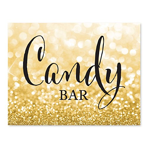 Wedding Dessert Table Ideas - Andaz Press Wedding Party Signs, Glitzy