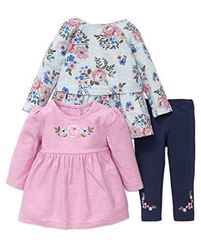 Little Me Baby Girls 3pc Pants and Shirt Set