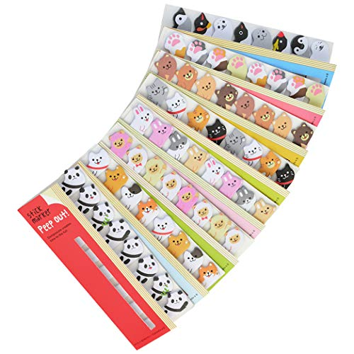 (960pcs Cute Sticky Notes Cartoon Animal Bookmarks Kawaii Page Flags Panda Bear Dog Rabbit Sheep Cat Penguin Sticker Index Tabs DIY Memo Pad Sticky Notes for Office School Reading by Lee-buty)
