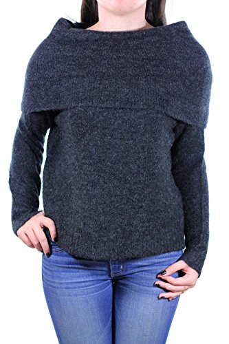 Only Onlbergen L/S Off Should Pull Knt Noos, Suéter para Mujer Gris (Dark Grey Melange)