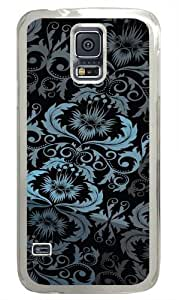 Floral Pattern Custom Samsung Galaxy S5/Samsung S5 Case Cover Polycarbonate Transparent