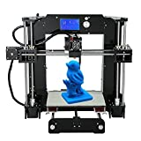 Anet A6 High Precision Big Size Desktop 3D Printer Kits Reprap Prusa i3 DIY Self Assembly LCD Screen with 16GB SD Card Aibecy Cleaning Cloth