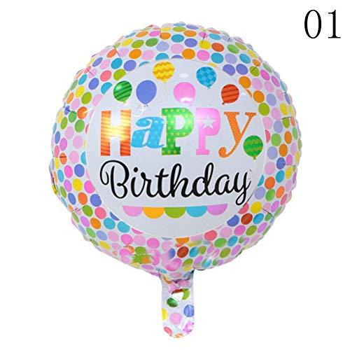 Birthday 10-5pcs Happy Birthday Foil Balloons Children Inflatable Toys Ballons Helium Balloon Party Decoration - Styles Decoration Style Decorating Party Decorative Quiz -