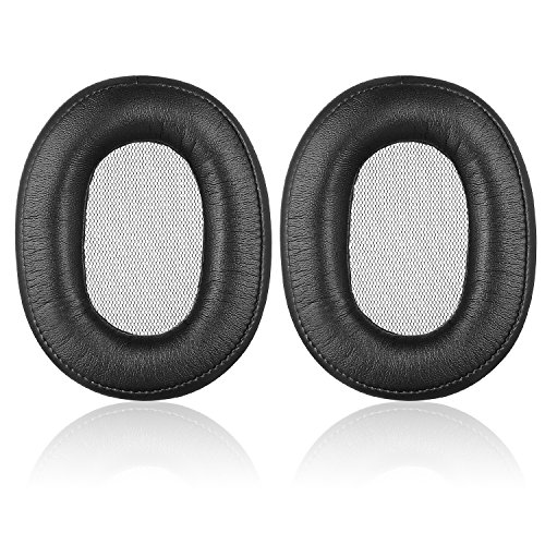 Sony MDR-1R Earpads - JECOBB Replacement Memory Foam & Protein Leather Ear Cushion Pads Cover for Sony MDR-1R, MDR-1RNC Headphones (Black)