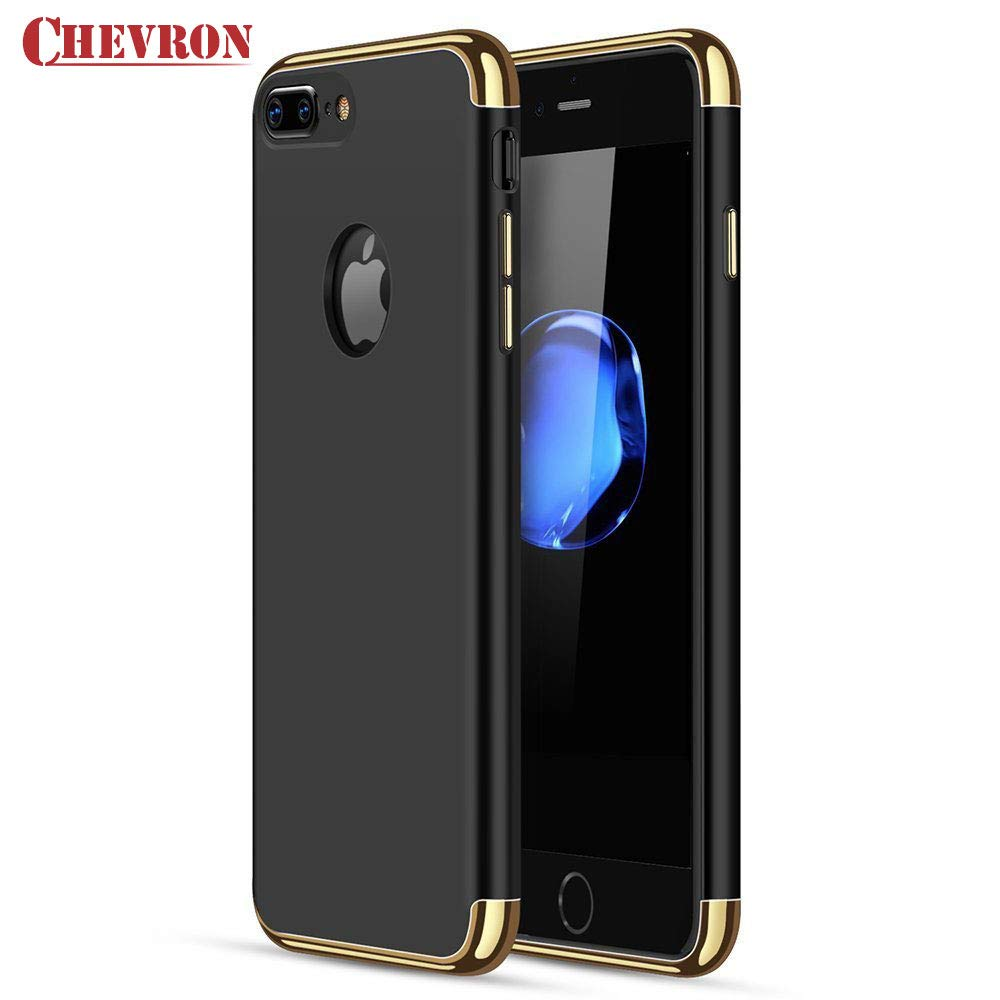 detailed look d39bb 528a3 Chevron Chevolution Luxury Back Cover for Apple Iphone 7 Plus (Black)