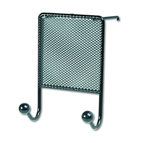 - Fellowes Mesh Partition Additions Double Coat Hook, Black (75903)