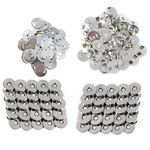 Infgreate Lovely and Delicate 100Pcs 18mm 3/4inch Round Magnetic Button Clasp Snaps for DIY Purse Sewing ()