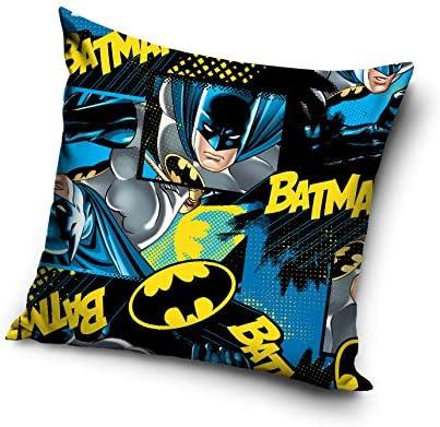 Batman Funda de cojín, Microfibra, Azul Oscuro, 40 x 20 x 1 cm: Amazon.es: Hogar