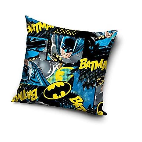 Batman Funda de cojín, Microfibra, Azul Oscuro, 40 x 20 x 1 ...