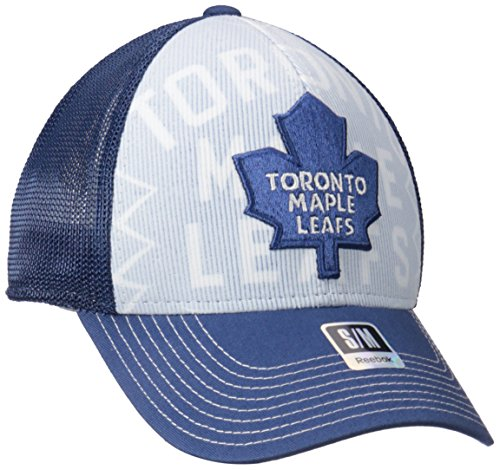 NHL Toronto Maple Leafs Men's Face-Off Formation Structured Flex Cap, Small/Medium, (Toronto Maple Leafs Snap)