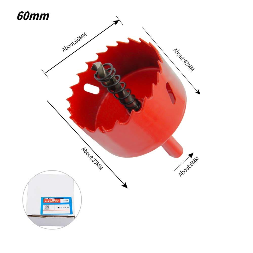 Scie-cloche bim/étallique HSS avec mandrin pour bois et m/étal LAIWEI 65 mm