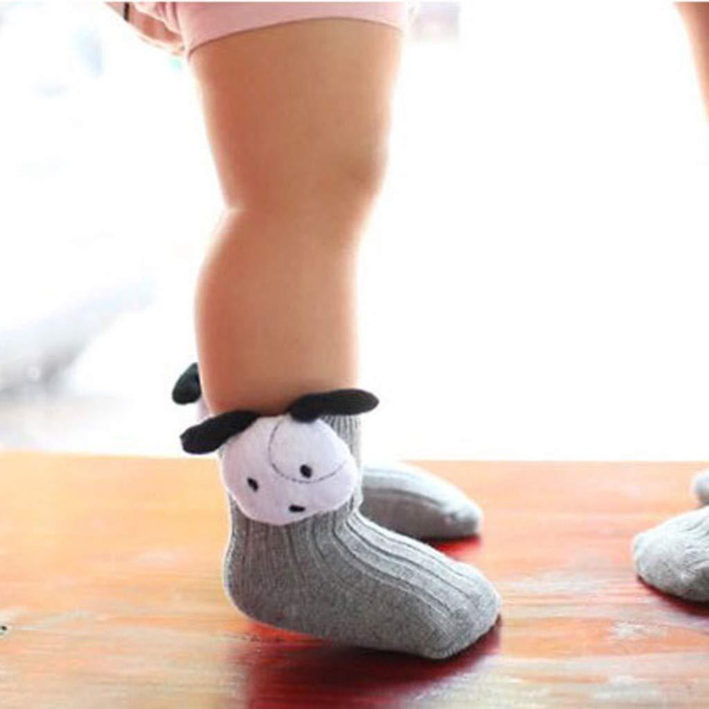 Amaone Baby Socks For 0-5Years Newborn Girl Boy Soft Cute 2 Pairs Three-Dimensional Cartoon Animal Flower Unisex Toddler Infant Anti-Skid Ankle Socks With Gift Box