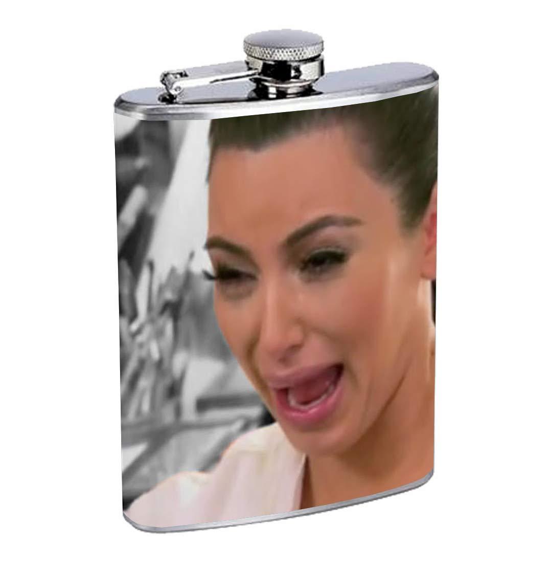 魅力の Kim K Crying Crying Meme おもしろポップカルチャー8オンス Meme ステンレススチール製フラスコ ドリンクウイスキー Kim B07HN1CW4K, オートアクセサリー web kyoto:b8482e26 --- a0267596.xsph.ru