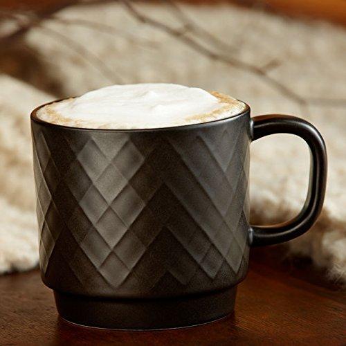 Starbucks Black Diamond Pattern Mug, 12 Fl Oz