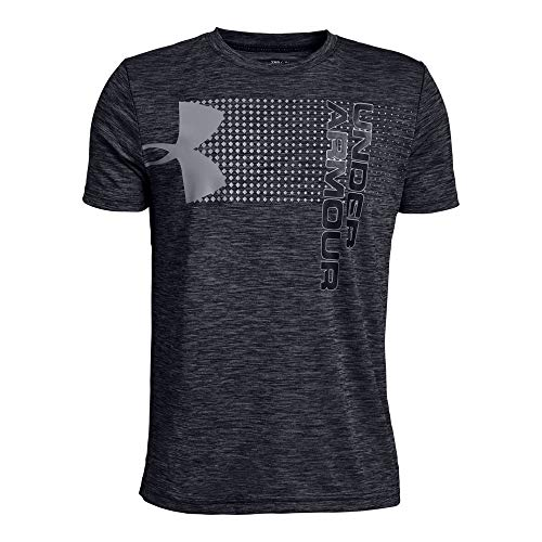 Under Armour Boys' Crossfade T-Shirt, Black (001)/Stealth Gray, Youth X-Large