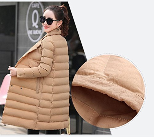 Jacket the Winter Suits Women Beige Shi Skirt in Women TT Section Coat Double Collar Breasted of down Han Long 0IqvxndSw