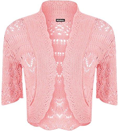 RIDDLEDWITHSTYLE - Torera - para mujer rosa pastel