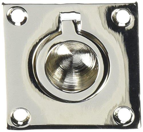 Baldwin 0393140 Flush Ring Pull, Bright Nickel -