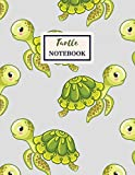 TURTLE Notebook: Composition Book: Wide Ruled Journal For Kids