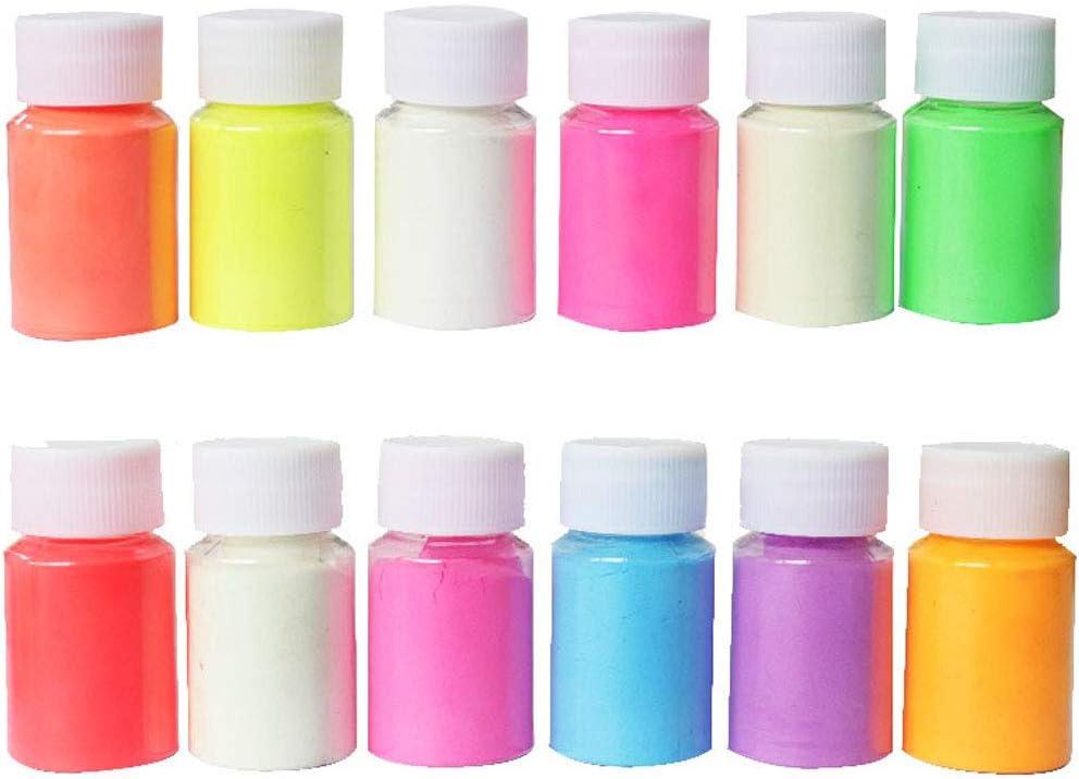 Fagu - Kit de Pigmento de Resina Luminosa de 12 Colores Que ...