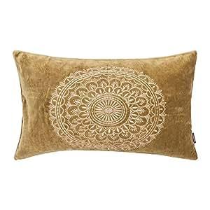 Linen and More Cojín Preston Velvet ocre 30x 50cm 100% algodón