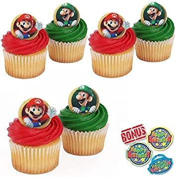 Amazon.com: Super Mario Bros Cupcake Toppers y Bonos ...