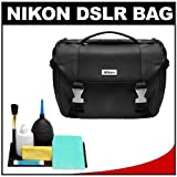Nikon Deluxe Digital SLR Camera Case – Gadget Bag, Cleaning Kit for D7000, D5100, D5000, D3200, D3100, D800, D90, D60, D40 andamp; D4, Best Gadgets