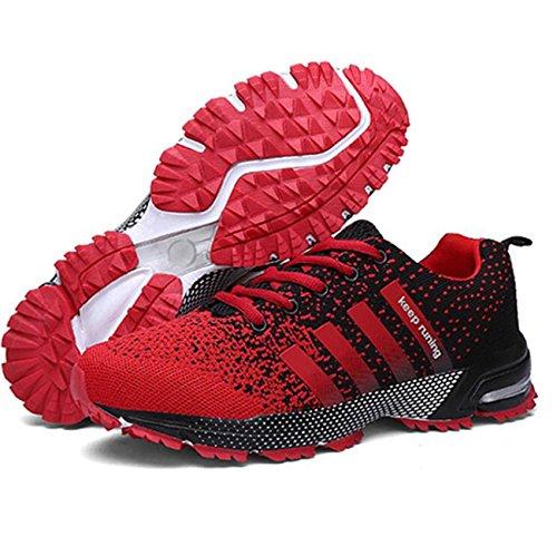 Laufschuhe Herren Damen Leicht Wanderschuhe Gute Qualität Sneaker Rot 42
