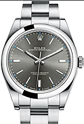 Mens Steel Rolex Oyster Perpetual 39mm Rhodium Dial, Oyster Bracelet