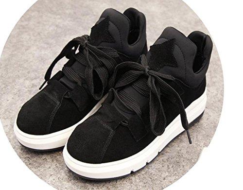 2017 Épais Noir Célibataires Ont Nouvelles Loisir Sport De Marée Chaussures Augmenté Femmes Chaussures Fond rxr7Fq