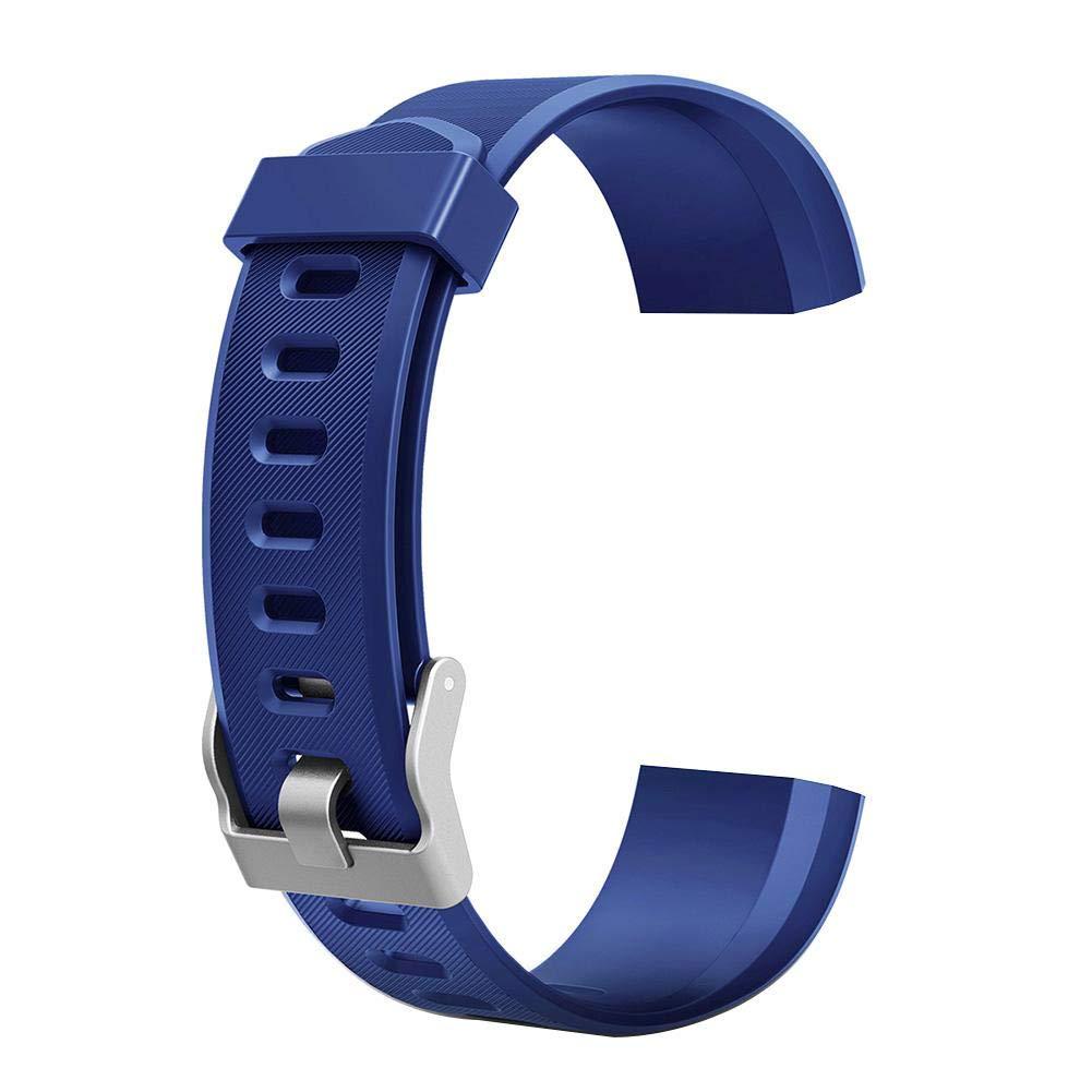 Vanpower ID115Plus HRスマートウォッチ用腕時計バンド 交換用アクセサリー, ブルー, 190675.01  ブルー B07KX38J16
