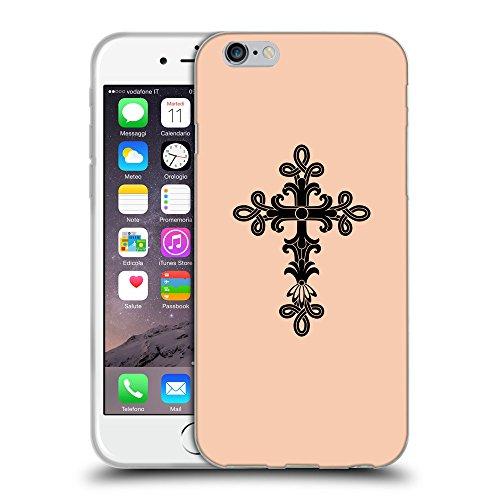 "GoGoMobile Coque de Protection TPU Silicone Case pour // Q07890604 Christian Cross 14 Abricot // Apple iPhone 6 4.7"""