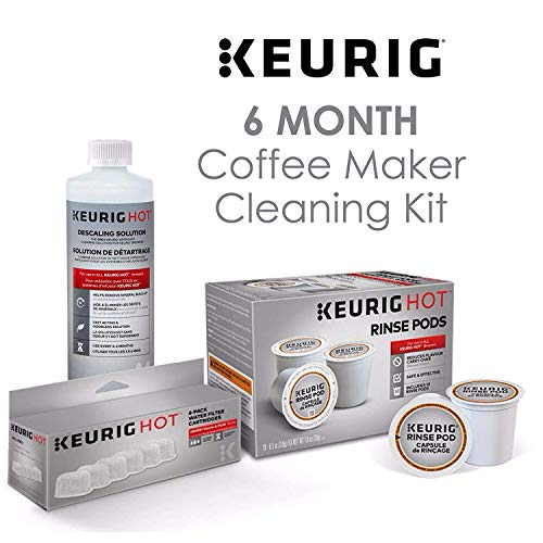 Keurig Maintenance Bundle Includes Replacement Water Filter Cartridges, Descaling Solution and Rinse Pods by Keurig
